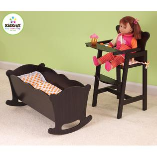 KidKraft Lil' Doll High Chair-Espresso
