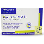 Anxitane® Chewable Tablets M & L for Dogs 22.1 lbs and up, 100 mg x 30 ct. at Kmart.com