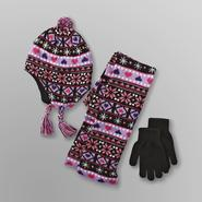 Joe Boxer Girl's Hat, Gloves & Muffler - Fair Isle at Kmart.com