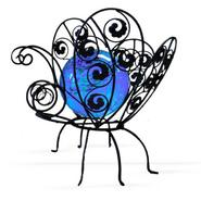 Garden Meadow 12 inch Solar Glass Wire Critter Butterfly with Blue Light at Kmart.com