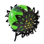 Garden Meadow 7 inch Solar Glass Silho Sunflower with Green Light at Kmart.com