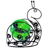 Garden Meadow 8 inch Solar Glass Wire Critter Snail with Green Light at Kmart.com
