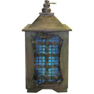 Garden Meadow 15 inch Solar Temple Lantern with Blue Light at Kmart.com