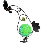 Garden Meadow 12 inch Solar Glass Rooster with Green Light at Kmart.com