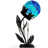 Garden Meadow 18 inch Solar Glass Flower Table Lamp with Blue Light at Kmart.com