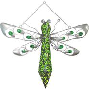 Garden Meadow 16 inch Solar Hanging Firelight Dragonfly with Green Light at Kmart.com