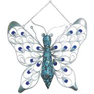 Garden Meadow 16 inch Solar Hanging Firelight Butterfly with Blue Light at Kmart.com