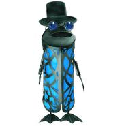 Garden Meadow 19 inch Solar Garden Butler Frog with Tophat Blue Light at Kmart.com
