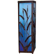 Garden Meadow 12 inch Solar Coastal Cattail Lantern with Blue Light at Kmart.com