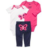 Carter's Infant 3Pc Girl's Bodysuits & Pants - Butterfly at Sears.com