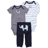Carter's Infant Boy's 3Pc Bodysuits & Pants - Elephant at Sears.com