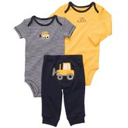 Carter's Infant Boy's 3Pc Bodysuits & Pants - Truck at Sears.com