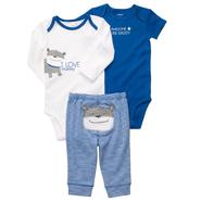 Carter's Infant Boy's 3Pc Bodysuits & Pants - Dog at Sears.com