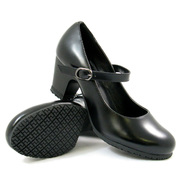 "Genuine Grip Women's Slip-Resistant Mary Jane 2"" Heel Dress Shoes #8200 Black at Kmart.com"