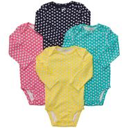 Carter's Infant Girl's 4Pk Long-Sleeve Bodysuits at Sears.com
