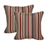 "Sunbrella Pack of 2 Deluxe (18"") Throw Pillows - Color:  Brannon Redwood at Kmart.com"