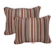 "Sunbrella Pack of 2 Deluxe (16""x20"") Throw Pillows - Color:  Brannon Redwood at Kmart.com"