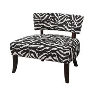 """Lady Slipper"" Zebra Print Accent Chair at Kmart.com"