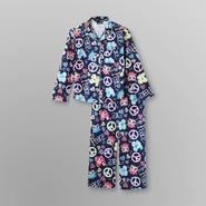 Joe Boxer Girl's Flannel Pajamas - Peace & Love Owl at Kmart.com