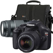 Canon T3, 75-300mm LENS, and Lowepro Adventure 170 Ca...