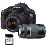 Canon T3, 75-300mm LENS, and PNY 8 GB SDHC Card Bundl...