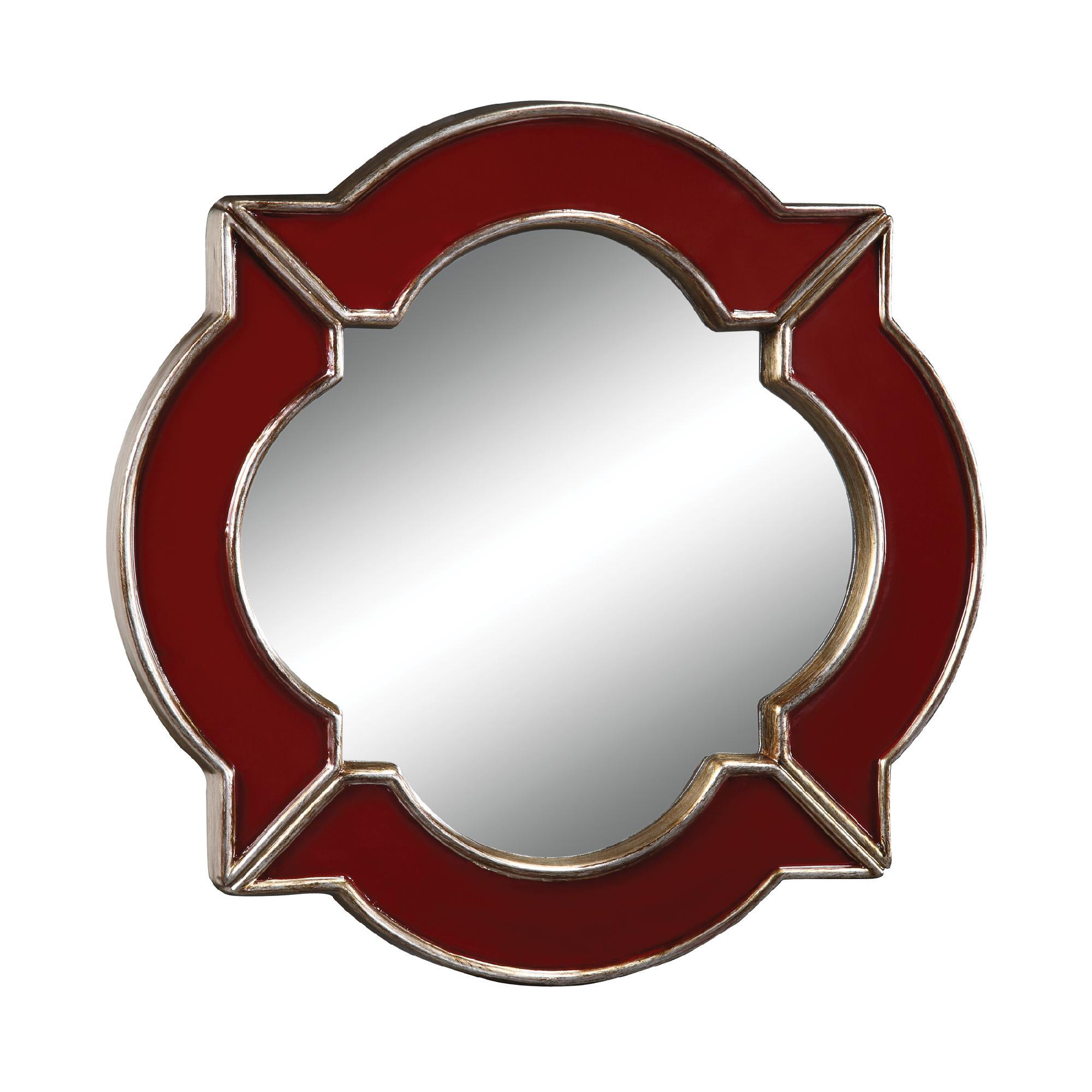 Sterling Industries Lilliput In Schribner Red Mirror