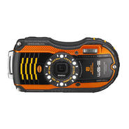 Pentax WG-3 Digital Camera with GPS Kit, Orange at Kmart.com