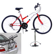 Titan Trailblazer Ladie's Mountain Bike with Rack and Floor Pump Bundle at Kmart.com