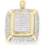 2 Cttw. Diamond Yellow Gold Finish Square Pendant at Sears.com