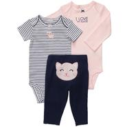 Carter's 3-Piece Infant Girl's Bodysuits & Pants - Cat at Sears.com