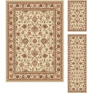 Tayse Rugs Elegance 5142 Beige Traditional Area Rug 3 pc. Set at Sears.com