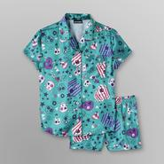 Joe Boxer Girl's Satin Pajamas - Skulls at Kmart.com