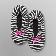 Joe Boxer Women's Slippers - Zebra Print at Sears.com