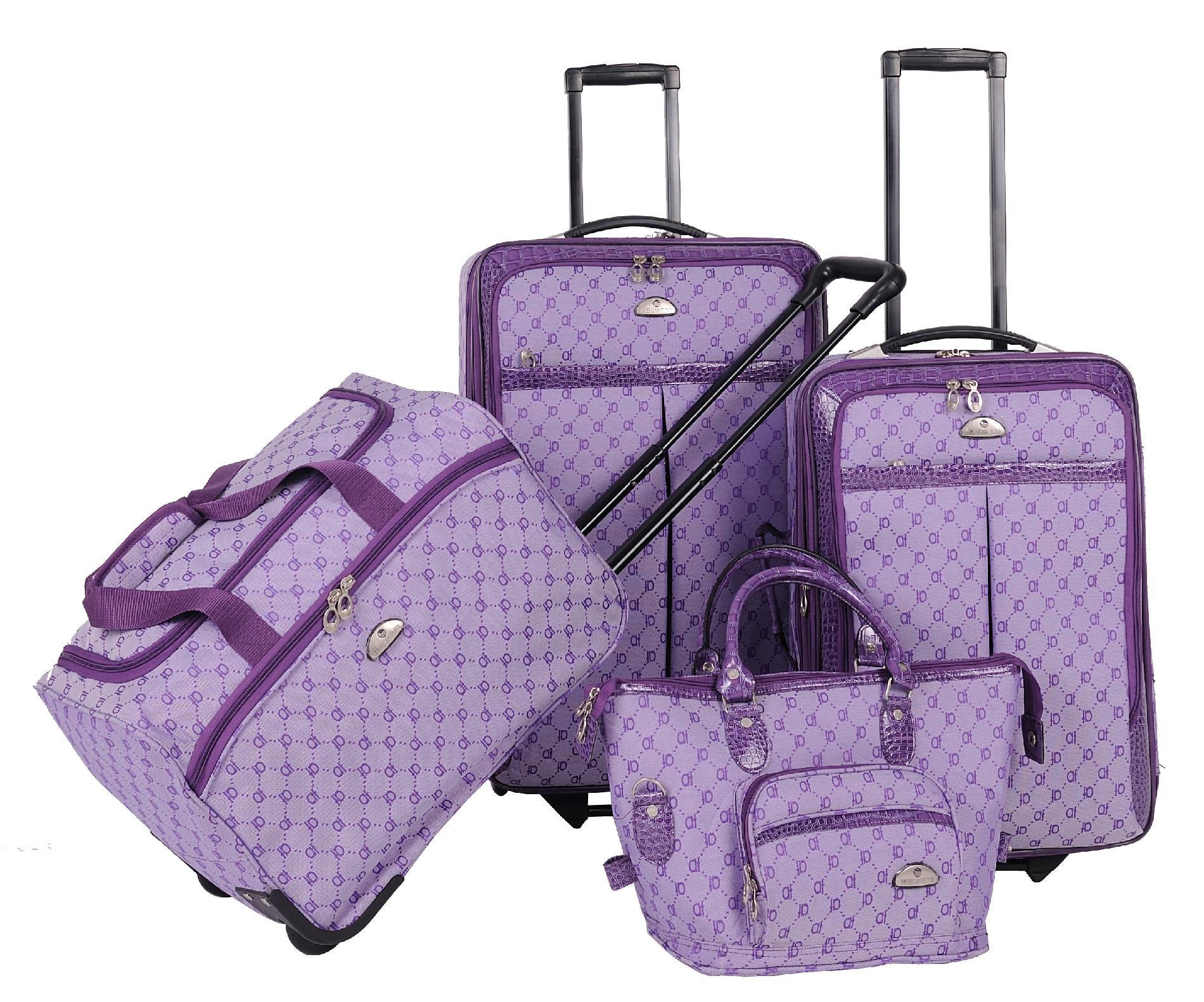 American Flyer Signature 4-Piece Luggage Set,  Light Purple