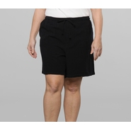 Basic Editions Women's Plus Knit Shorts at Kmart.com