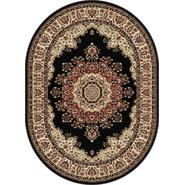 Tayse Rugs Sensation 4703 Black 5 ft. 3 in. x 7 ft. 3 in. Oval Traditional Area Rug at Sears.com