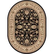 Tayse Rugs Sensation 4723 Black 5 ft. 3 in. x 7 ft. 3 in. Oval Traditional Area Rug at Sears.com