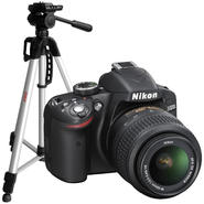 Canon or Nikon Digital SLR Camera and Tripod Bundle  ...