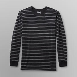 Basic Editions Men's Long-Sleeve T-Shirt - Striped at Kmart.com