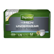 Depend for Men Underwear, Maximum Absorbency, L/XL 52ct at Kmart.com