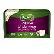 Depend for Women Underwear, Maximum Absorbency, S/M 60ct at Kmart.com