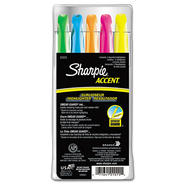 Sharpie® Accent Pocket Style Highlighter, Chisel Tip, Assorted Colors, 5/Set at Kmart.com
