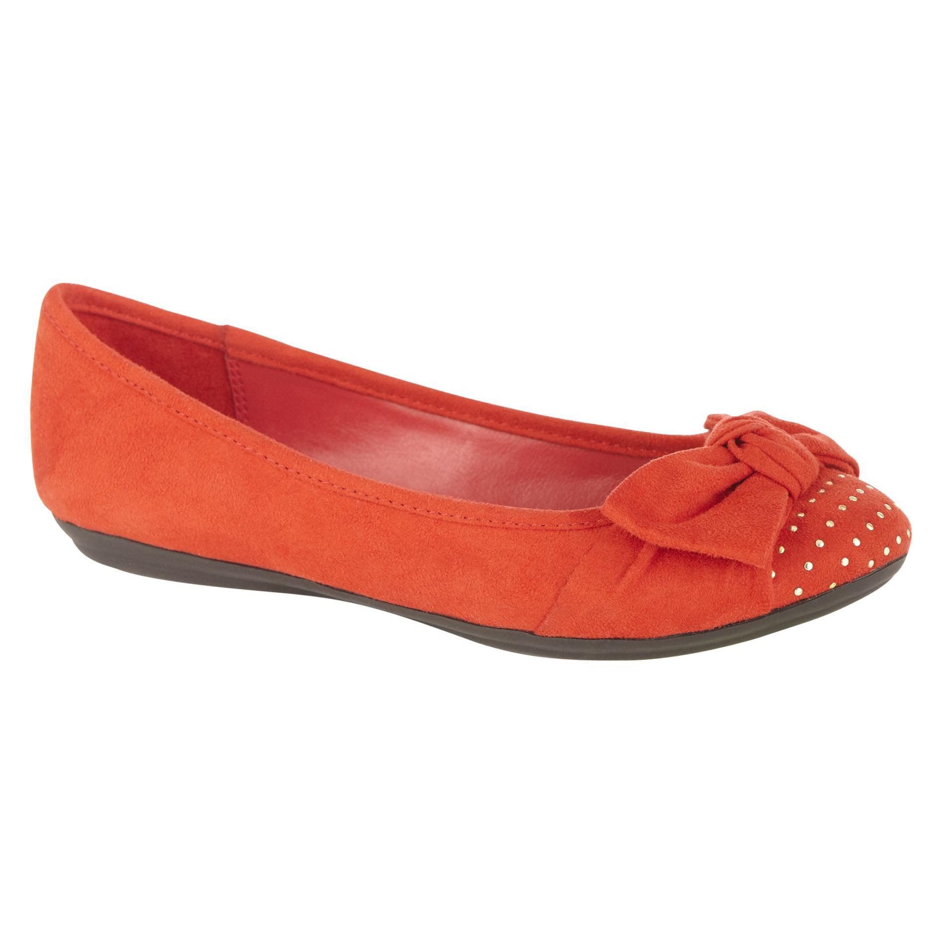 Women's Casual Ballet Flat Glimmer - Red