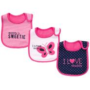 Carter's Infant Girl's 3 Pk Teething Bibs - Butterfly at Sears.com