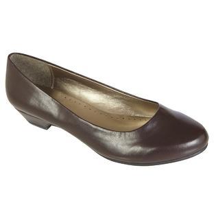 Basic Editions Women's Dress Shoe Renee Wide Width - Brown