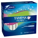 Tampax Pearl Plastic Tampons, Super Absorbency, Fresh Scent, 36 tampons at mygofer.com