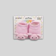 Infant Girl's Knit Booties - Bunny at Kmart.com