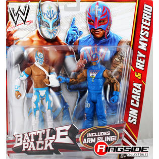 WWE Sin Cara & Rey Mysterio - WWE Battle Packs 22 Toy Wrestling Action Figures