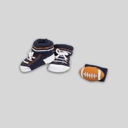 Infant Boy's Booties & Rattle - Football at Kmart.com