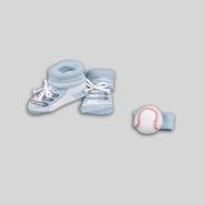 Infant Boy's Booties & Rattle - Baseball at Kmart.com